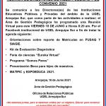 REUNIÓN DE DIRECTORES DE II.EES. PÚBLICAS Y DE CONVENIO 2021