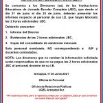 LAS INSTITUCIONES EDUCATIVAS DE JORNADA ESCOLAR COMPLETA (JEC) DESDE EL DÍA 21 DE JUNIO AL DÍA 25 DE JUNIO DEBERÁN PRESENTAR LOS INFORMES RESPECTO AL PERSONAL DE SUS I.E.