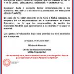 HORARIOS DE ENTREGA DE LIBROS Y MATERIAL FUNGIBLE