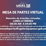 INFORMACIÓN IMPORTANTE PARA EL SERVICIO DE MESA DE PARTES VIRTUAL