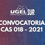 RESULTADOS DEFINITIVOS DE LA EVALUACION CURRICULAR DEL CAS 018 – 2021 UGEL AREQUIPA SUR