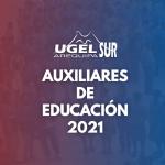 ESTE LUNES 25 DE OCTUBRE LA UGEL AREQUIPA SUR ADJUDICA PLAZAS DE AUXILIARES DE EDUCACIÓN