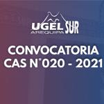 RESULTADOS DEFINITIVOS DEL CAS 020 – 2021 UGEL AREQUIPA SUR